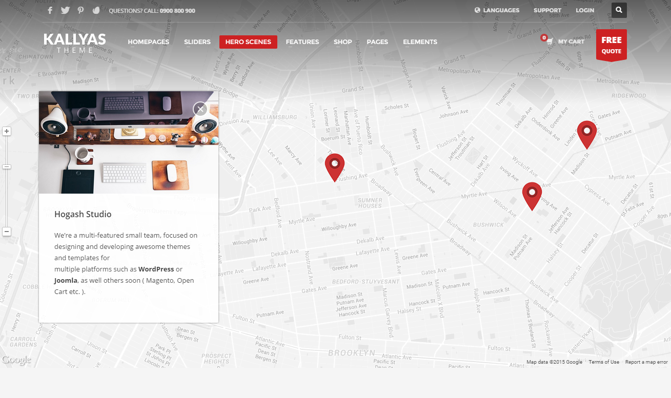 Google Map Hogash Studio Dashboard - Google maps themes