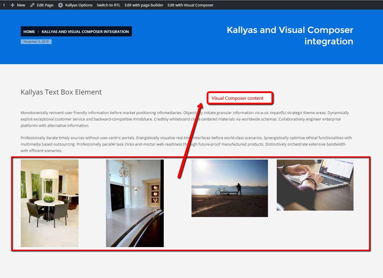 How to use Visual Composer with Kallyas - Hogash Studio Dashboard